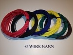 6 Pack 14 Gage GXL Wire                              -                                                SIX (6) Colors, 25 Foot Each Color:                                                            Red, Black, Blue, Green, Yellow, Brown