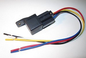 "30 Amp Automotive Relay with 12"" Socket & Pigtail (Plastic Tab)"